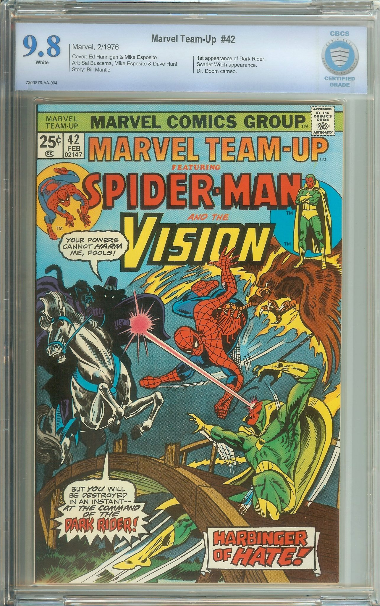 MARVEL TEAM-UP #42 CBCS 9 8 WHITE PAGES