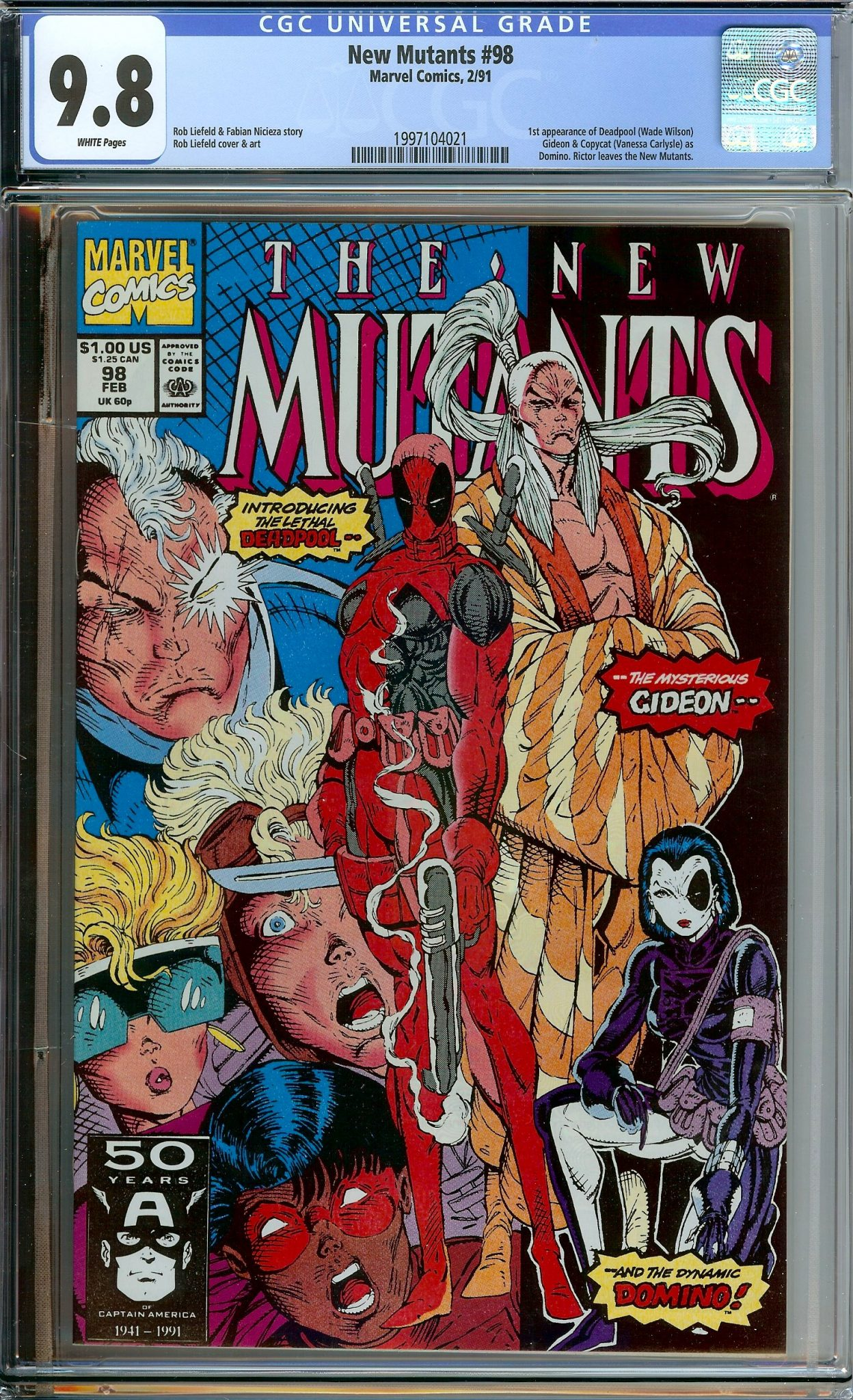 NEW MUTANTS #98 CGC 9 8 WHITE PAGES