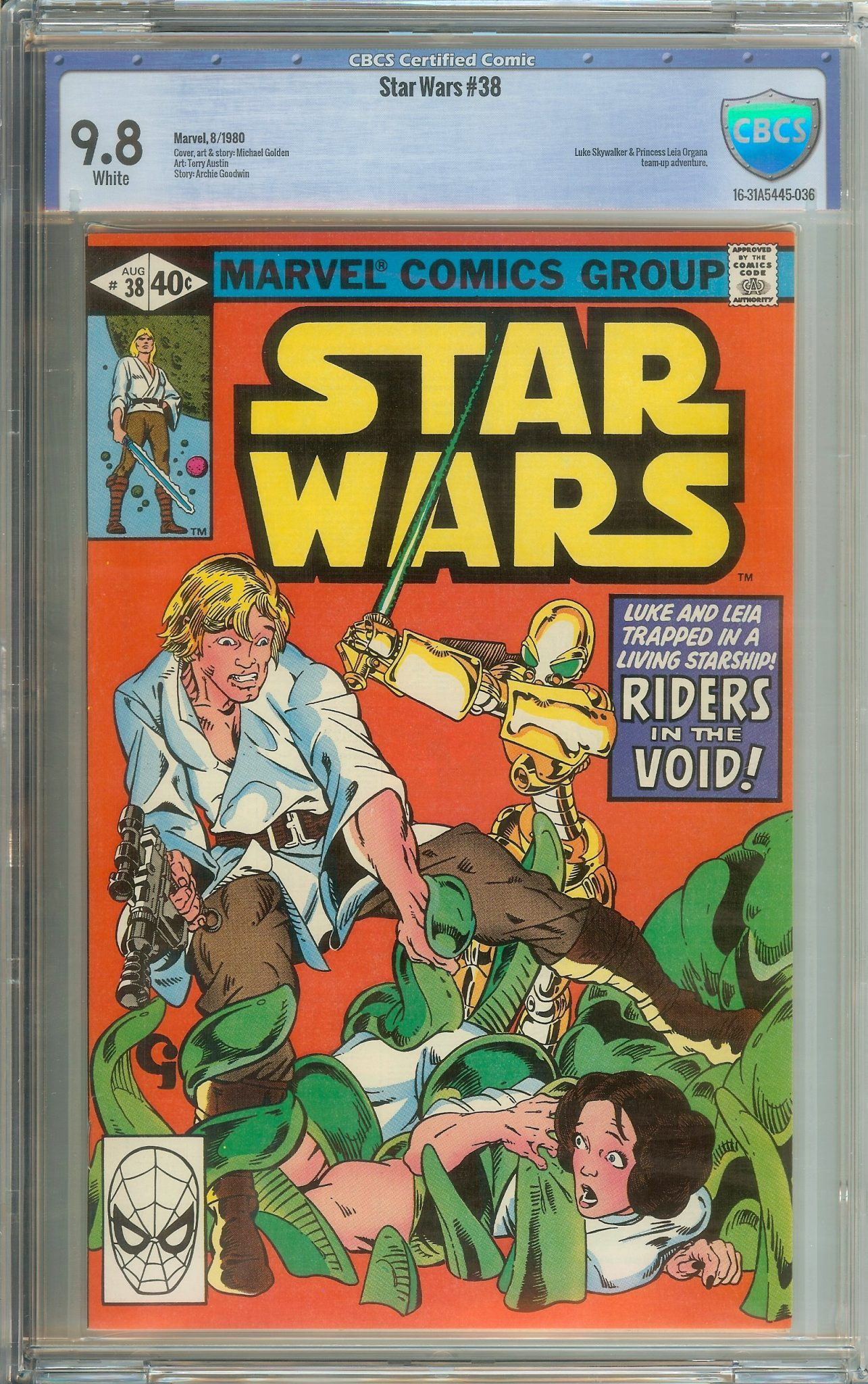 STAR WARS #38 CBCS 9 8 WHITE PAGES